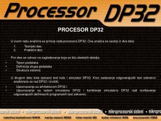 PROCESOR DP32
