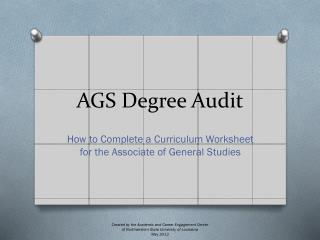 AGS Degree Audit