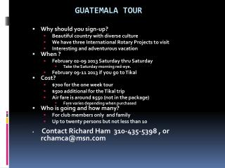 Guatemala Tour