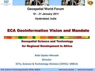 ECA Geoinformation Vision and Mandate