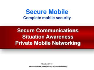 Secure Mobile Complete mobile security