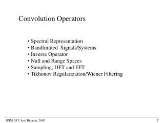 Convolution Operators