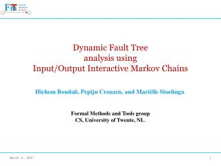 Dynamic Fault Tree analysis using Input/Output Interactive Markov Chains