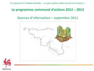 Programme d'ancrage 2012-2013