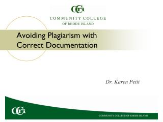 Avoiding Plagiarism with Correct Documentation