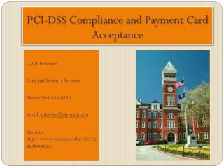 PCI-DSS Compliance and Payment Card Acceptance