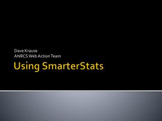Using SmarterStats