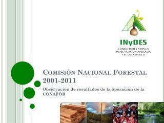 Comisión Nacional Forestal 2001-2011