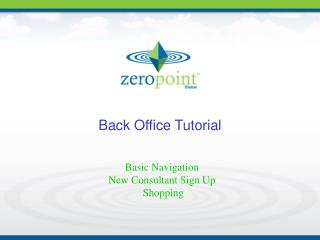 Back Office Tutorial