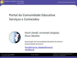 Portal da Comunidade Educativa  Serviços e Conteúdos