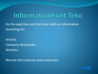 Informationhunt Teko