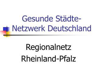 Gesunde Städte-Netzwerk Deutschland