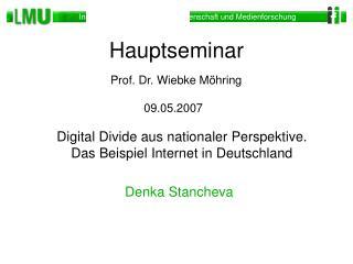 Digital Divide aus nationaler Perspektive. Das Beispiel Internet in Deutschland