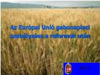 Az Európai Unió gabonapiaci szabályzása a reformok után