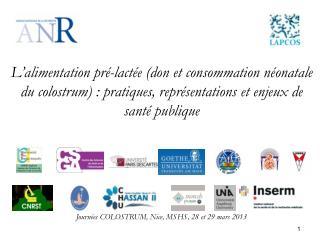 Journées COLOSTRUM, Nice, MSHS, 28 et 29 mars 2013