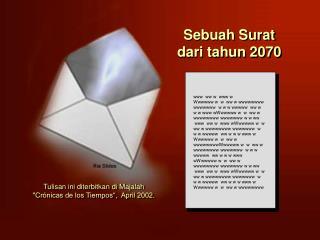 Sebuah Surat   dari tahun 2070