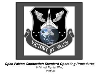 Open Falcon Connection Standard Operating Procedures 1 st  Virtual Fighter Wing 11/19/08
