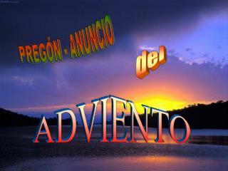 PREGÓN - ANUNCIO