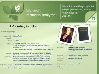 """J.V. Gėtė """"Faustas"""""""