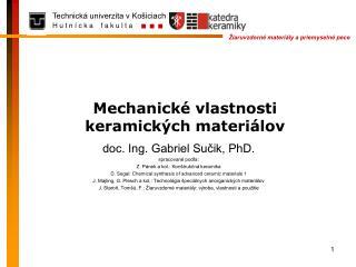 Mechanické vlastnosti keramických materiálov