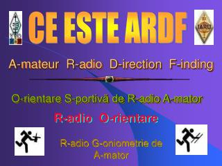 A-mateur  R-adio  D-irection  F-inding