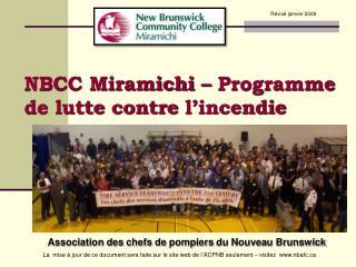 NBCC Miramichi   Programme de lutte contre l incendie