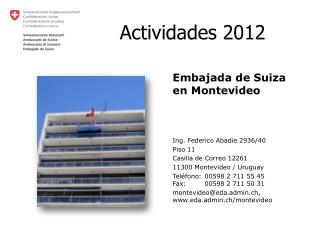 Actividades 2012
