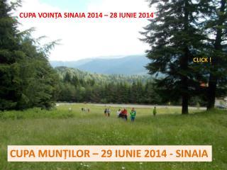 CUPA VOIN ȚA SINAIA 2014 – 28 IUNIE 2014