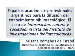 Susana Romanos de  Tiratel