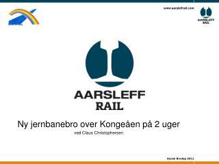 Ny jernbanebro over  Kongeåen  på 2 uger ved Claus Christophersen