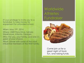 Worldwide Athletes Fundraiser