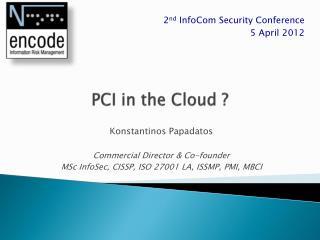 PCI in the Cloud ?