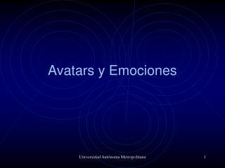 Avatars y Emociones