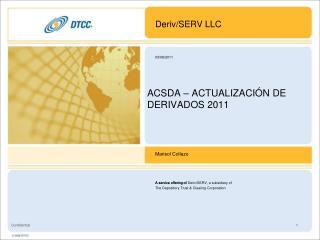 ACSDA � ACTUALIZACI�N DE DERIVADOS  2011