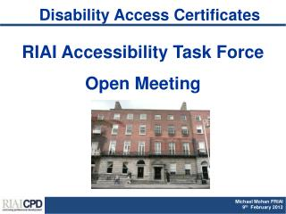 Disability Access Certificates