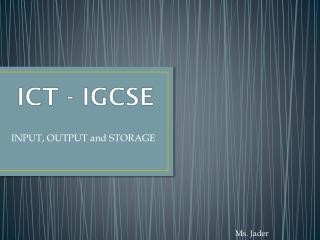 ICT - IGCSE