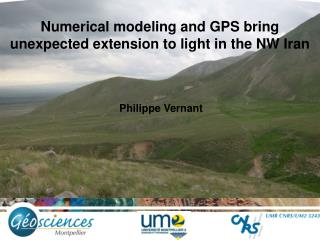 Numerical modeling and GPS bring unexpected extension to light in the NW Iran