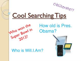 Cool Searching Tips