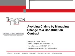 Avoiding Claims by Managing Change to a Construction Contract