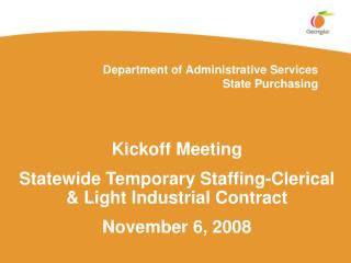 Department of Administrative Services State Purchasing