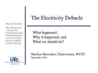 The Electricity Debacle