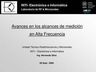 INTI- Electr�nica e Inform�tica Laboratorio de RF & Microondas