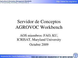 Servidor de Conceptos AGROVOC Workbench
