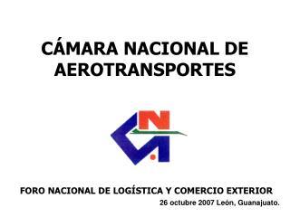 C MARA NACIONAL DE AEROTRANSPORTES