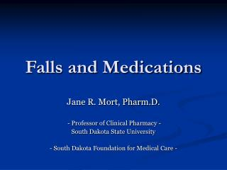 Falls and Medications