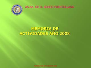 MEMORIA DE ACTIVIDADES AÑO 2008
