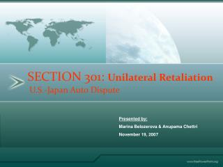 SECTION 301: Unilateral Retaliation