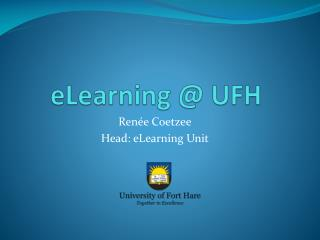 eLearning @ UFH