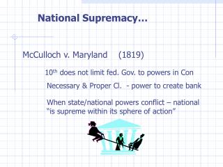 National Supremacy…