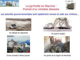 La pyrrhotite en Mauricie :  Portrait d un v ritable d sastre
